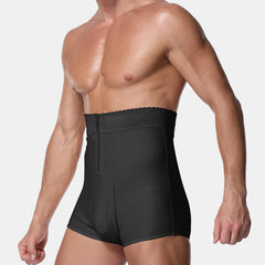 Mens Body Building High Wasit Zipper Abdomen Control Fat Burning Shapewear - Slabiti
