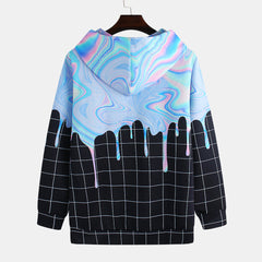 Fashion Oil Paint Colorful Printing Long Sleeve Casual Sweatshirt - Slabiti