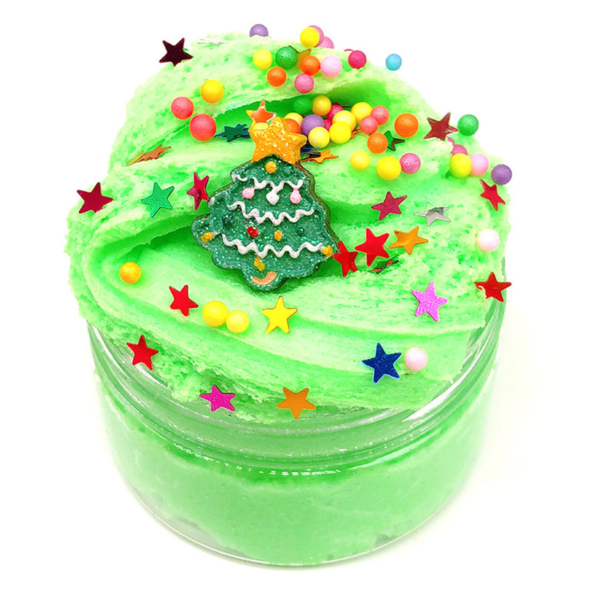 100ML Christmas Cloud Slime Squishy Scented Stress Clay Kids Toy Sludge Cotton Mud Plasticine Gifts - Slabiti
