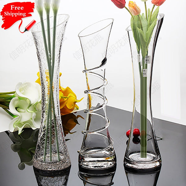 home decor transparent glass hydroponic vase modern fashion dining table office table small vase