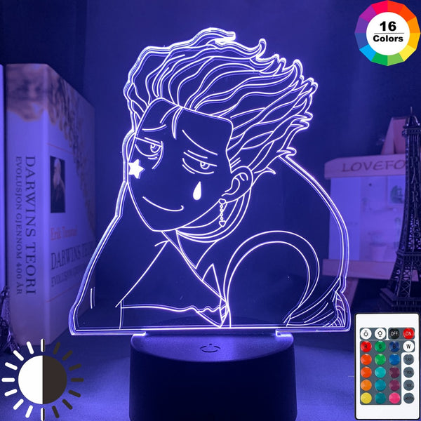 iLight Gift Store Anime Led Light Hisoka Meme for Kids Bedroom Decor Nightlight HXH Gift Hunter X Hunter Table Lamp Hisoka Morow - Slabiti