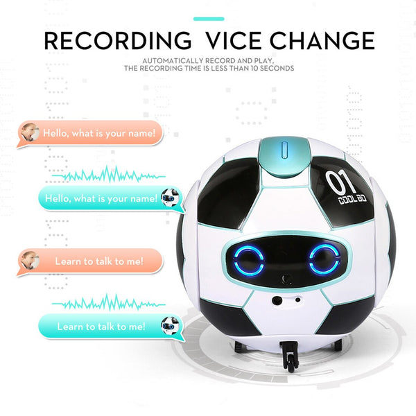 iTECHOR Multifunctional Speech Recognition Ball Robot. Children Science and Educational Toy. Voice Recognition Robot - Slabiti