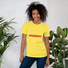 Short-Sleeve Unisex T-Shirt #stayhome Stop Coronavirus CoVid-19 motivation - Slabiti
