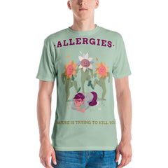 Men's Funny T-Shirt Design with an Allergic Boy - Slabiti