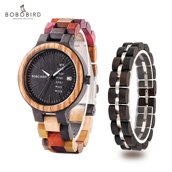 montre femme BOBO BIRD Wooden Women Watches Bracelet Set High Quality Japan Movement Quartz Watch in Wood Box reloj mujer - Slabiti