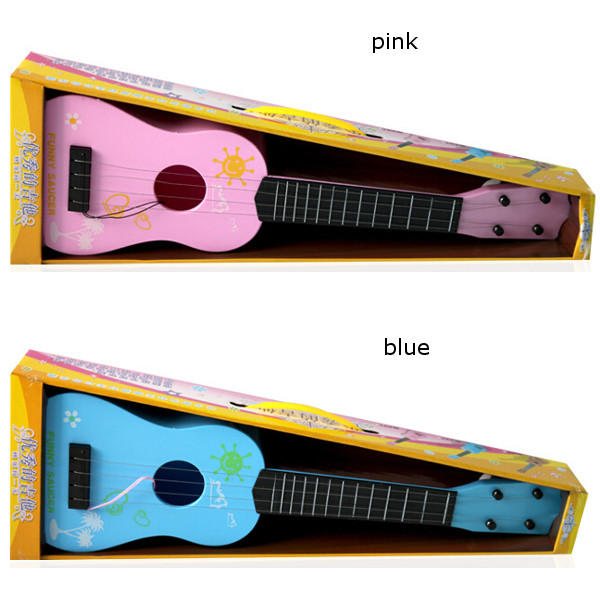Children Kids Simulation Guitar Educational Toys 4 String Acoustic Developmental Musical Instruments - Slabiti