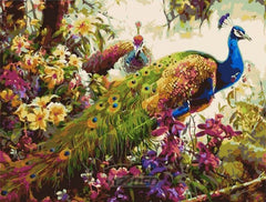 AZQSD Painting By Numbers 40x50cm Beautiful Peacock with Flowers Oil Painting Picture By numbers On Canvas Home Decor szyh208 - Slabiti