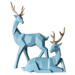 Nordic Style gift 3D Solid Geometry Lucky Deer Ornaments Resin Craft Home Furnishing for Decoration Office Desktop Figurines - Slabiti