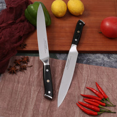 Japanese Kitchen Knives 8 inch Chef Knife Set Germany 1.4116 High Carbon Steel Santoku Fishing Sharp Cooking Knife Handmade - Slabiti