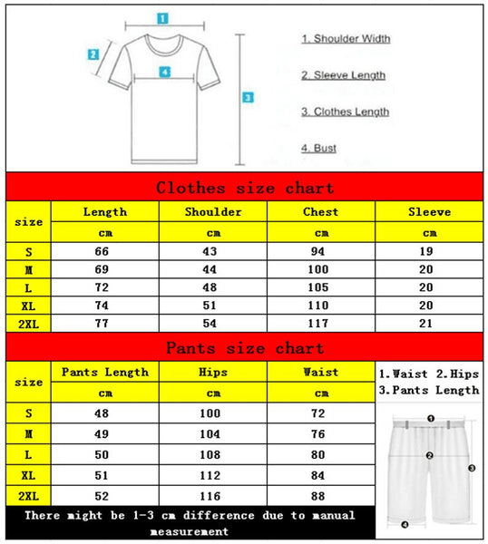 Quality Men's Sets T Shirts+shorts men Brand clothing Two piece suit tracksuit Fashion Casual Tshirts Gyms Workout Fitness Sets - Slabiti