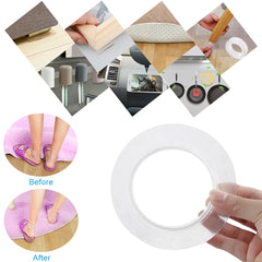 1M Reusable Double-Sided Adhesive Nano Traceless Tape Removable Sticker Washable Adhesive Loop Disks Tie Glue Gadget - Slabiti