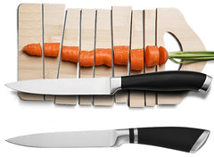 "Upspirit 5"" Japanese Kitchen Knife Stainless Steel Chef Slicing Paring Fruit Knife Vegetable Fish Utility Knives Cooking Tools - Slabiti"