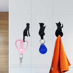 3pcs Cute Cat Tail Wall Hooks Ultra-Powerful Super Strong Hanger Metal Hook  Self Adhesive Towel Rack Key Hanger Door Wall Decor - Slabiti