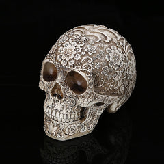 Home Decor Resin Craft Plum Blossoms Sculptures Garden Statues personality Art Carving Statue Medical Model Human Skull - Slabiti