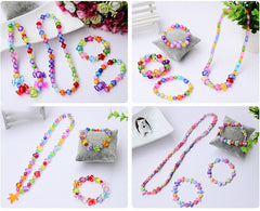 DIY Handmade Beaded Toy with Accessory Set Children Creative 24 Grid Girl Jewelry Making Toys Educational Toys Children Gift - Slabiti