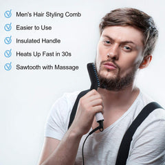 Multifunctional Beard Straightener Heated man's Hair Beard Flat Iron Quick  Straightening Beard Brush Show Cap Tool Dropshipping - Slabiti