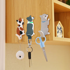 Lovely animal Fridge Hook Key Wall Crochet Holder Removable Kitchen Hooks Home Decor key holder wall can Washed holder wall hook - Slabiti
