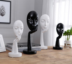 Furnishing Articles Women Face Statues for Decoration Home Decoration Accessories Character Sculpture Abstractive Resin Crafts - Slabiti