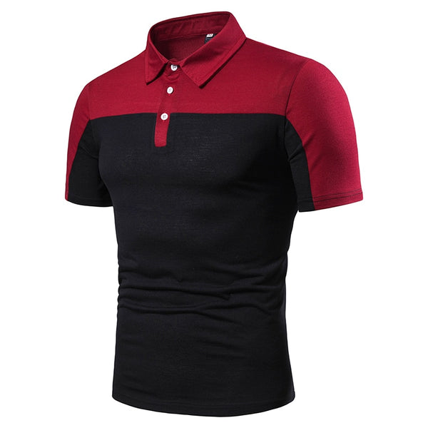 NEGIZBER 2019 New Men's POLO Shirt Fashion Stitching Casual Short-sleeved - Slabiti