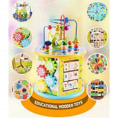 Montessori Early Childhood Learning Educationa Toys Wooden Gift kids Color Cognition Puzzles Math Toys For Baby - Slabiti