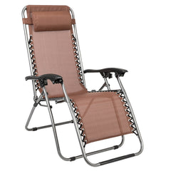 2pcs Zero Gravity Lounge Chair with Portable Cup Holder Table for Patio Pool - Slabiti