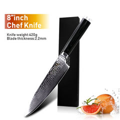 Damascus Knives Chef Knife Japanese Kitchen Knife Damascus VG10 67 Layer Stainless Steel Knives Ultra Sharp Micarta Handle - Slabiti