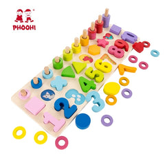 Baby Wooden Montessori Educational Material Toy Kids Early Learning Infant Shape Match Board Toy For More Than 3 Year Old PHOOHI - Slabiti