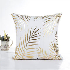 MIHE Cushion Cover 45*45cm Gold Linen Cotton Soft Throw Pillow Cover Sofa Pillowcase Merry Christmas Decorations For Home BZT18 - Slabiti