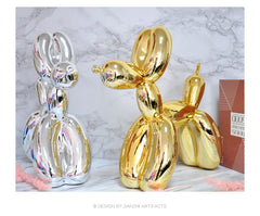 Jeff koons large balloon dog sculpture works of art  contemporary contracted household desktop Decor Animals Figurines Gifts - Slabiti