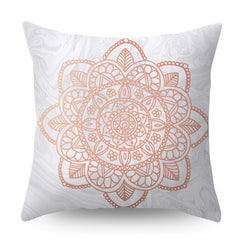 Urijk Lash Pillowcase Rose Gold Square Cushion Cover Geometric Dreamlike Polyester Throw Pillow Cover Home Decor 45x45cm - Slabiti
