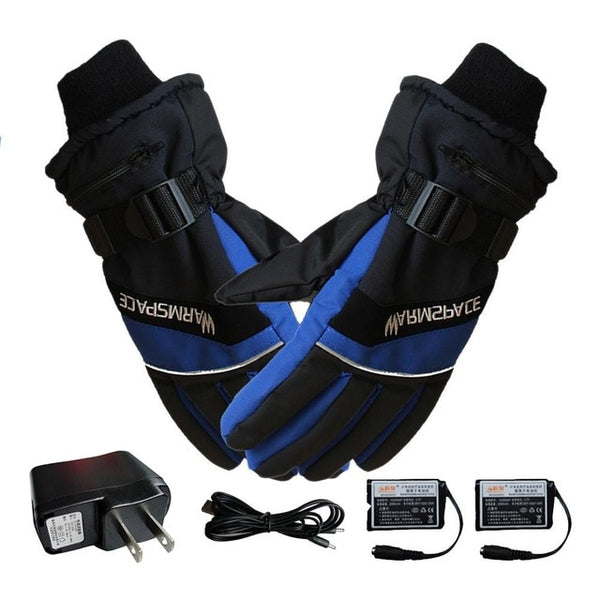 USB Heated Gloves Winter Thermal Hand Warmer Electric Heating Glove Battery Powered Thermal Waterproof For Motorcycle Ski Gloves - Slabiti