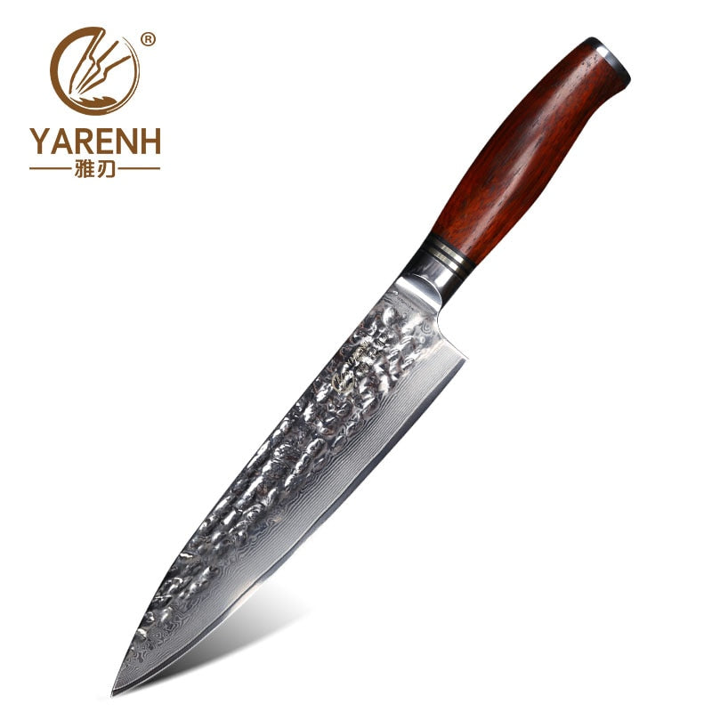 YARENH 8 inch Chef Knife Stainless Steel Carving Knives professional High Carbon VG10 Japanese 67 layer Damascus Kitchen Knives - Slabiti