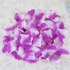 100 pcs Colorful Silk Rose Petals Flowers Red Artificial Flower Wedding Engagement Decoration Valentine's Day Love Event Party - Slabiti