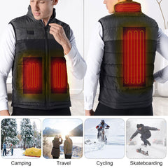 Men Women Outdoor USB Infrared Heating Vest Jacket Winter Clothing Waistcoat Electric Heating Vest For Fishing Hiking - Slabiti