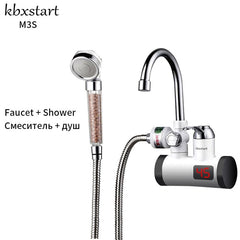 Home Kitchen Touch Faucet Hot Water Heating Tap With Electric Shower Induction Heater Instantaneous Water Heaters heater tap - Slabiti
