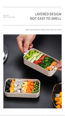 WORTHBUY Japanese Microwave Bento Box Wheat Straw Child Lunch Box Leak-Proof Bento Lunch Box For Kids School Food Container - Slabiti