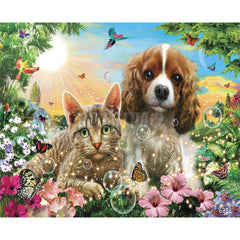 Painting By Numbers Frameworks Coloring By Numbers Home Decor Pictures Animal Dog Decorations RSB8389 - Slabiti