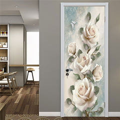 Stereo Flower Home Decor Art Door Sticker Renovation Natural Landscape Wallpaper For Living Room Bedroom Refrigerator Posters - Slabiti