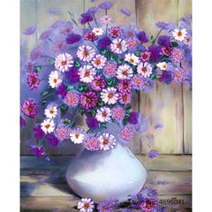 Painting By Numbers Frameworks Coloring By Numbers Home Decor Pictures Flowers Vase Decorations RSB8171 - Slabiti