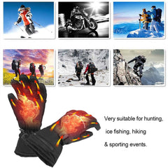 1 Pair Electric Heating Gloves Battery Powered Thermal Heated Gloves Men Women Five-Finger Winter Hand Warmer Hunting Gloves - Slabiti