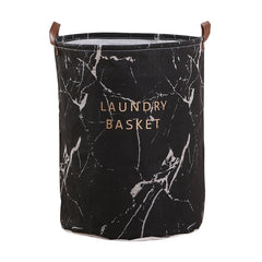 Foldable Closure Laundry Basket Large Capacity Bag Bins Kids Toy Buckets Clothes Organizer Storage Hamper Cotton Linen - Slabiti