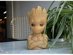 Strongwell Tree Man Piggy Bank Coin Money Box Baby Groot Doll Figurine Marvel Guardians The Galaxy Avengers Desktop Decoration - Slabiti
