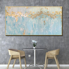 100% hand-painted oil painting, gold leaf mountain abstract modern art murals, for the living room decoration - Slabiti