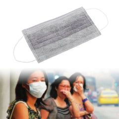 ZLROWR 50 Pcs / Set Non-woven Fabrics Disposable Surgical Activated Charcoal Mouth Mask - Slabiti