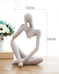 Abstract Character Decoration North European Creative Home Ornament Drawing Room Office Sandstone Decor gift statue Sculpture - Slabiti
