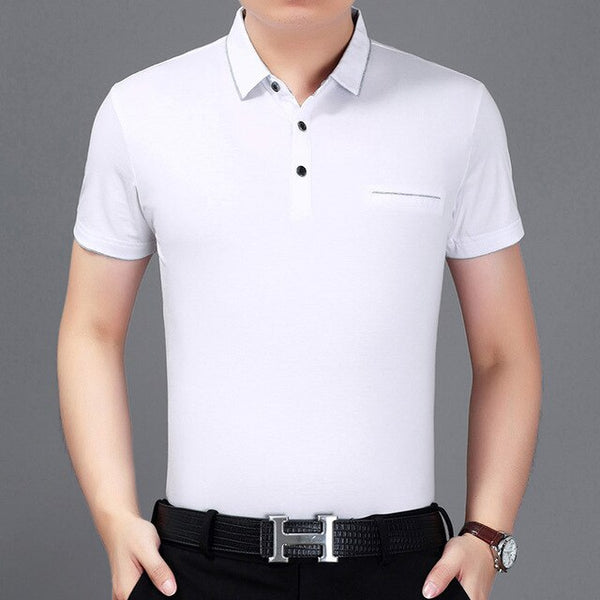 New summer polo shirt men short sleeve polos shirts - Slabiti