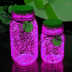 10g Luminous Party DIY Bright Glow in the Dark Paint Star Wishing Bottle Radiationless Fluorescent Powder Glitter Romance - Slabiti