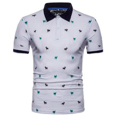 T-Bird Polo Shirt Men Printed Short Sleeves - Slabiti