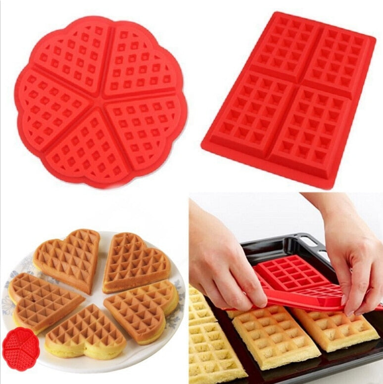 Silicone Cake Mould Waffle Mould Bakeware DIY Modle Kitchen Cooking Cake Makers Tool - Slabiti