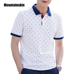 Mountainskin Men's Tops Summer 100% Cotton Printed Shirts Brands Short Sleeve - Slabiti